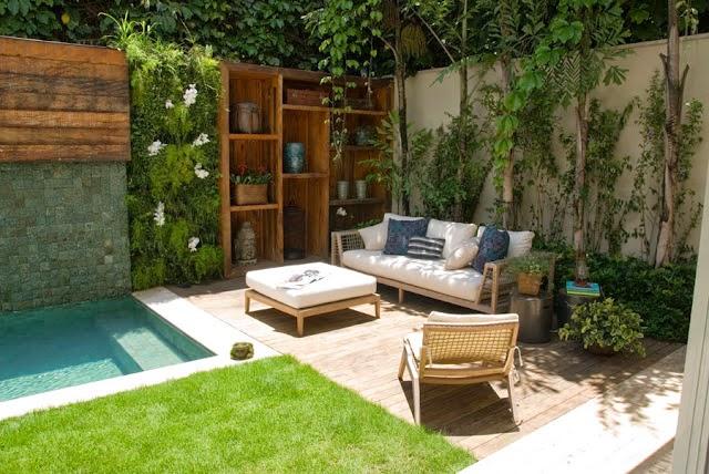 jardim quintal pequeno:Quintais pequenos cheios de inspirações para você aproveitar
