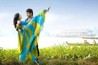 Lovely Movie Spicy Romanctic Stills Gallery Adi Shanvi Spicy Romance in Saree