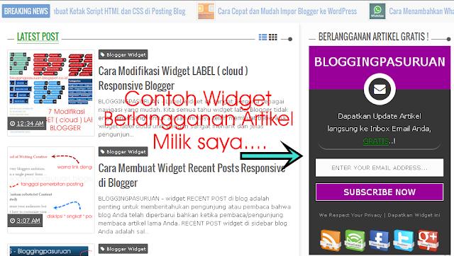 Cara Membuat Widget Feedburner +Social Share Responsive Blogger