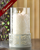 Romantic White Hurricane Pillar Candle Lamp Lantern