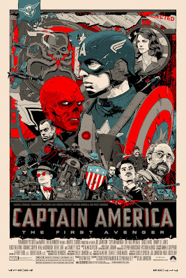 San Diego Comic-Con 2011 Exclusive Captain America: The First Avenger Mondo Screen Print Series by Tyler Stout - Standard Edition