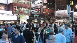 It is 10 pm but still crowded.