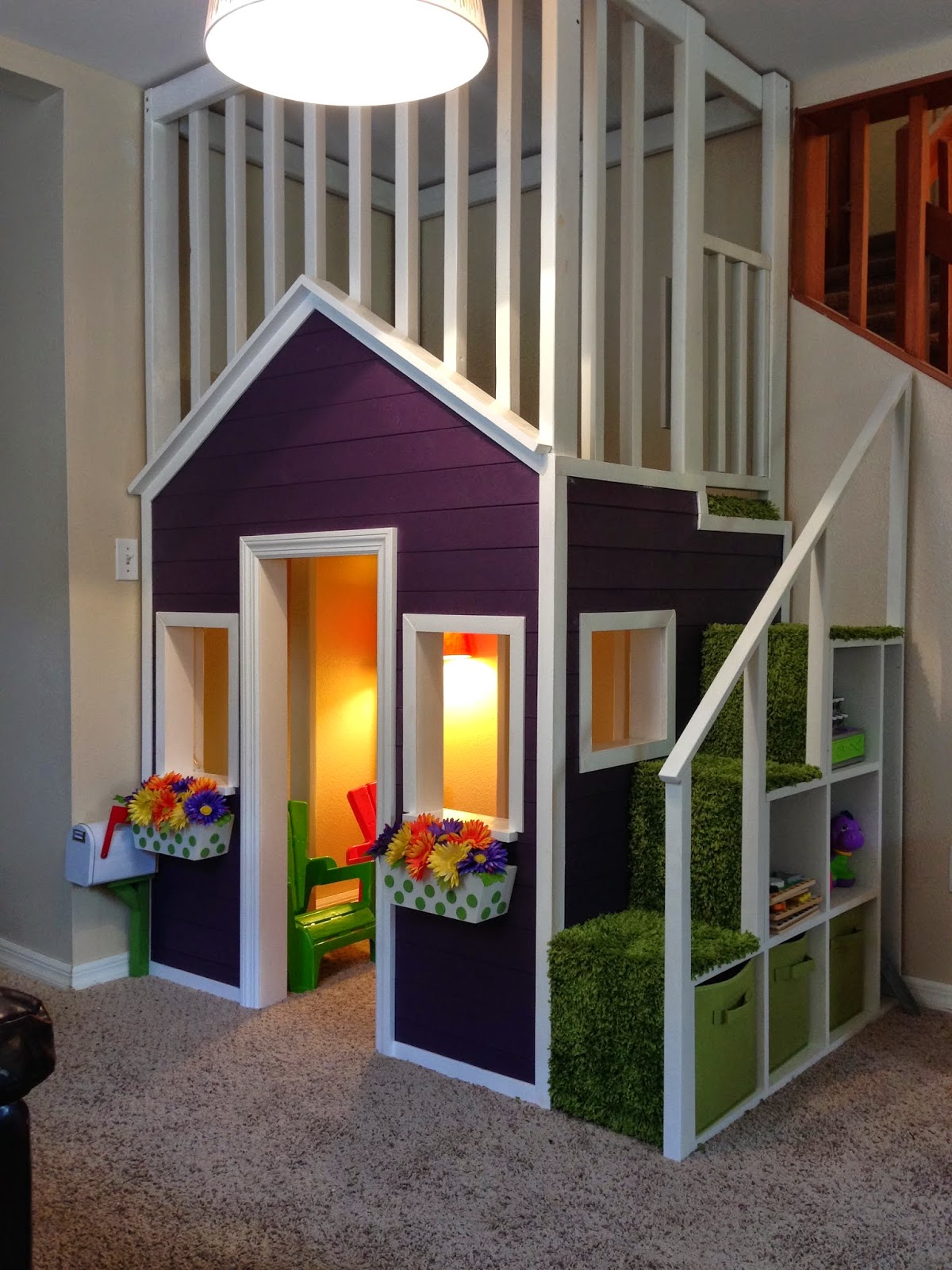 the duncan family indoor playhouse. Black Bedroom Furniture Sets. Home Design Ideas