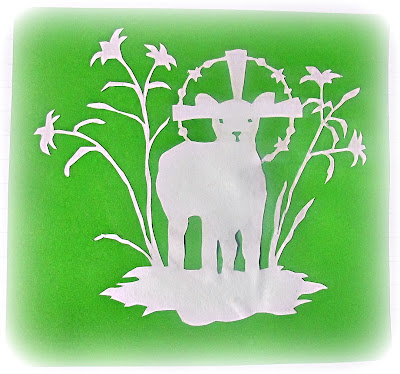 image papercut lamb of God Easter papercutting