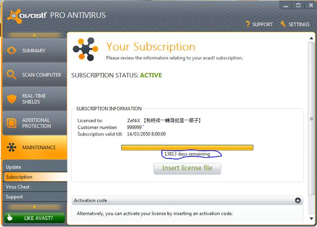 Till Avast License File & Avast Pro Antivirus (New)