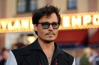 JOHNNY DEPP NEW SHORT HAIRSTYLE - MESSY