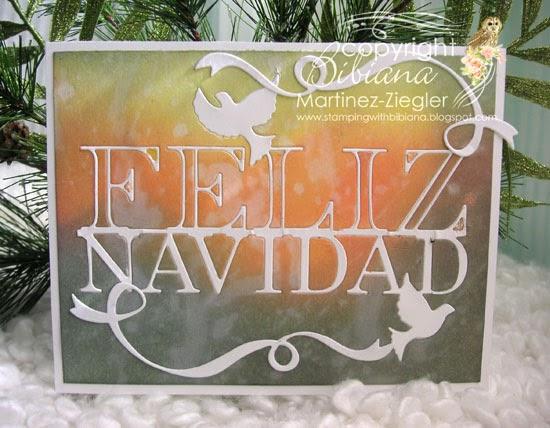 CAS feliz navidad front card