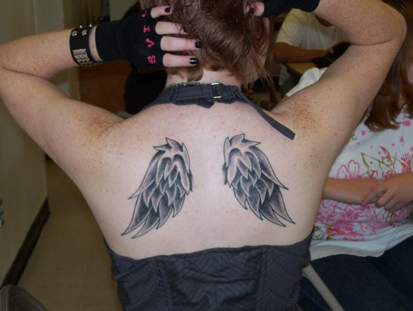Wing Tattoos On Back For Girls. Angel Wing Tattoos For Girls