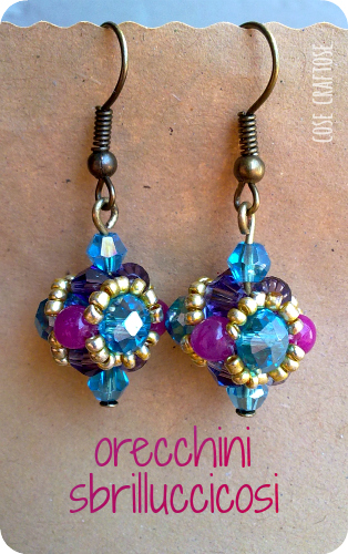 sparkling earrings - beading project