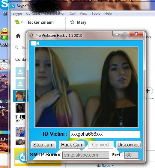 skype cam hack