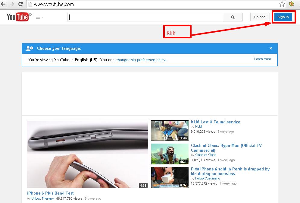 cara membuat akun youtube