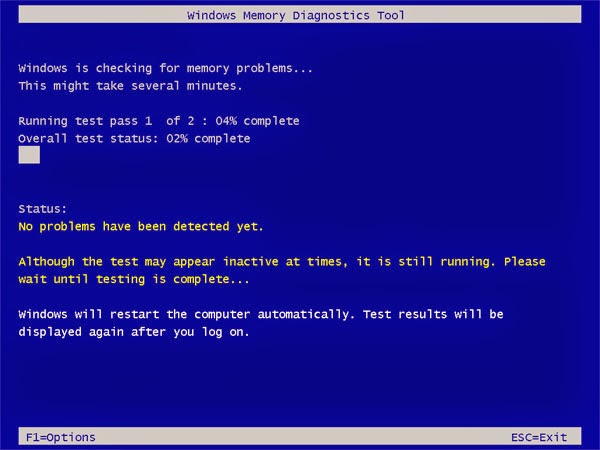 Windows Memory Diagnostic Tool