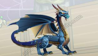 imagen del dragon blue-azul
