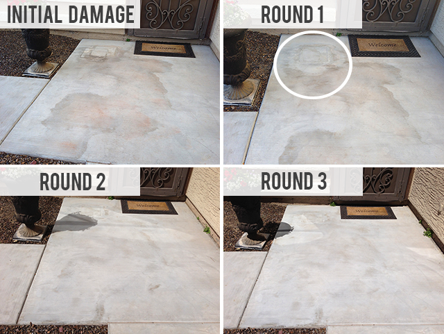 Everyday Simple: Using Vinegar to Remove Water Stains from Concrete
