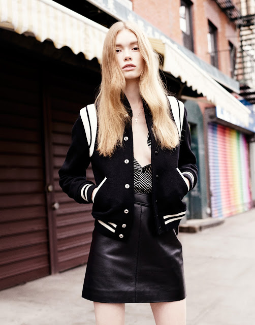 Julia Hafstorm with Jacket and Skirt by Saint Laurent on Cool Chic Style Fashion
