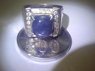 Batu Cincin Blue Sapphire Burma