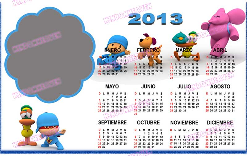 calendarios 2013 psd png pocoyo