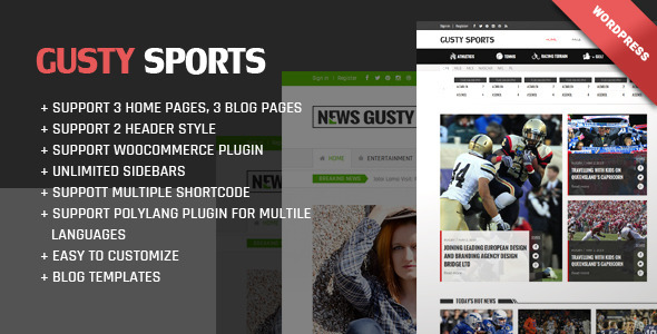 Gusty Magazine WordPress theme download