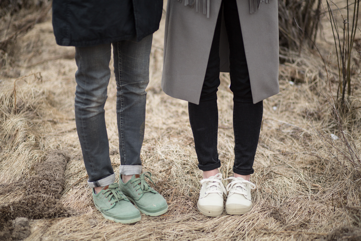 His and Her Palladium Boots Pampa Oxford Lc