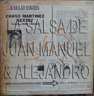 Chano Martinez Sextet A Bailar Senores Featuring Rudy Calzado