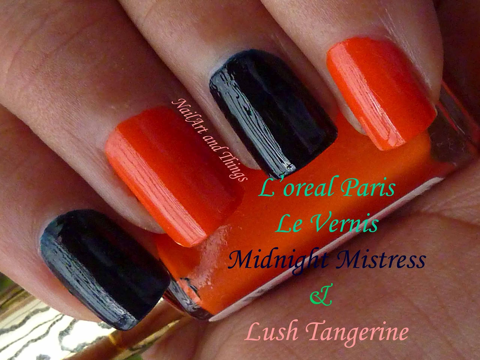 NailArt and Things: L\'oreal Le Vernis: Midnight Mistress Swirling in ...