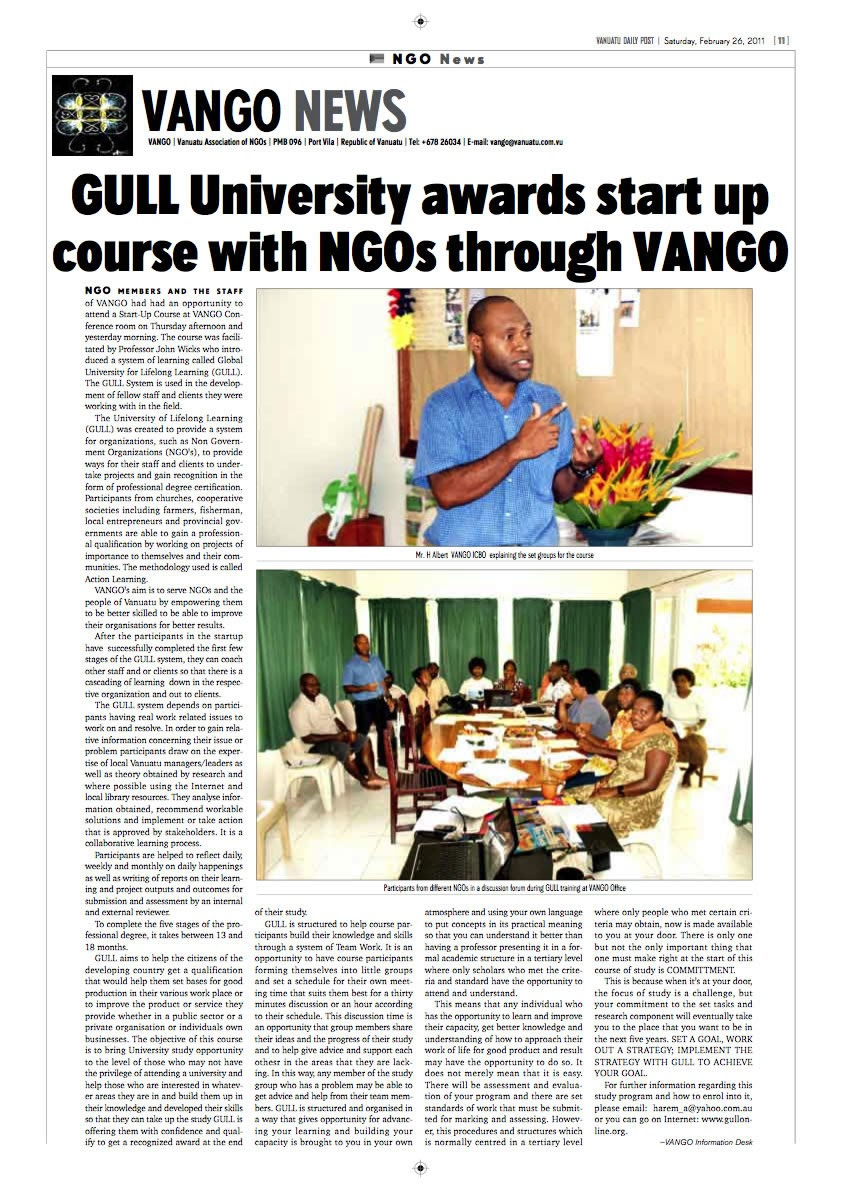 瓦纳图国家日报报导 Vanatu national Press