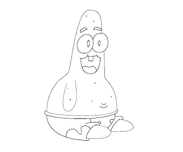 #5 Patrick Star Coloring Page