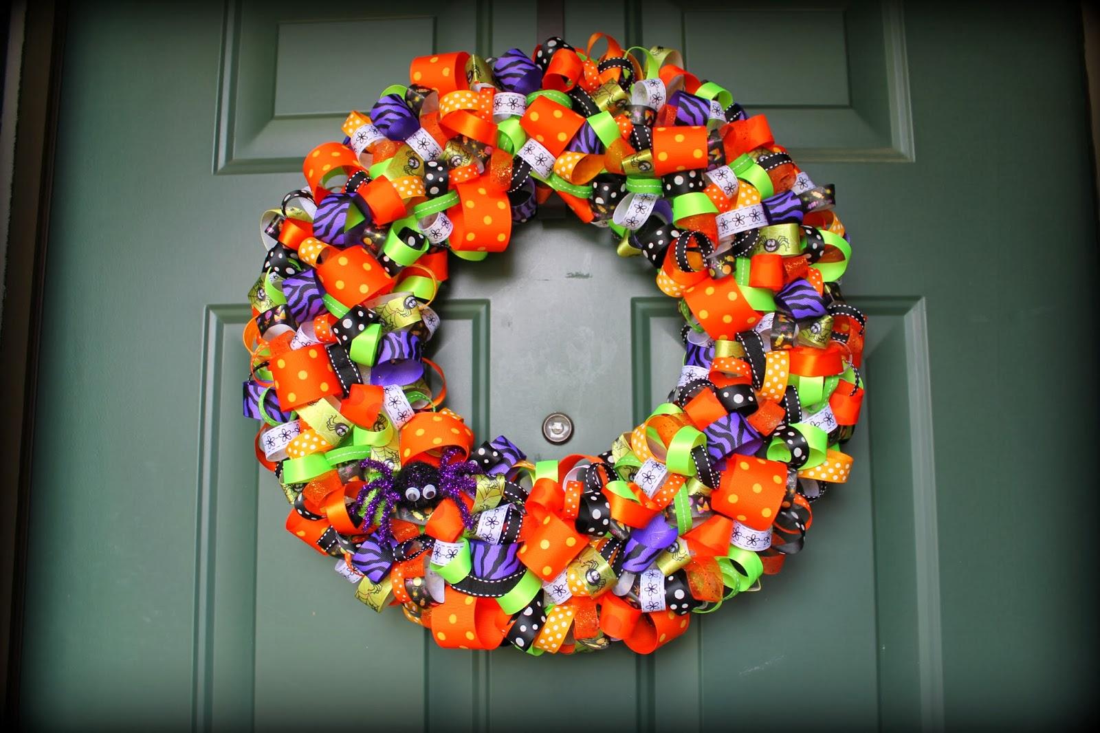 Ladditude Halloween Ribbon Wreath