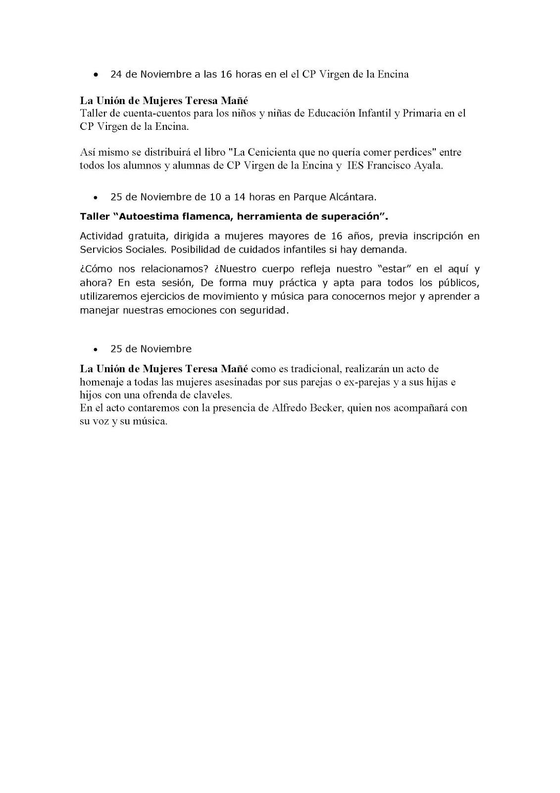 25 DE NOVIEMBRE DIA INTERNACIONAL CONTRA LA VIOLENCIA MACHISTA