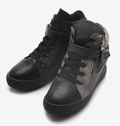 Sharpen Brush Zipper Sneakers