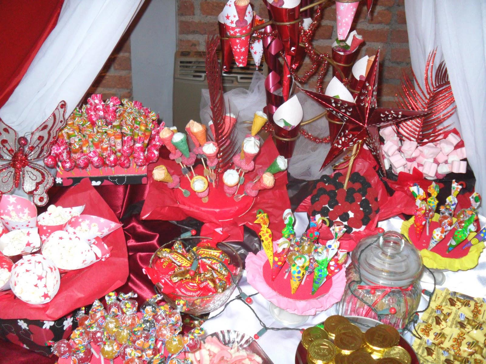 Mario olguin ambientaciones mendoza mesa dulce 15 a os for Mesa de dulces para 15