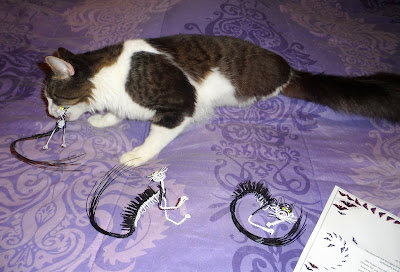 "Anakin Two Legged Cat Wire Anamin Sculptures by Brett ""Pan Man"" Hurst"""