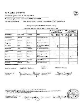Pandev admite que votou em Del Bosque