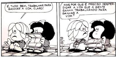 Quino, Mafalda, Miguelito, Trabalhar