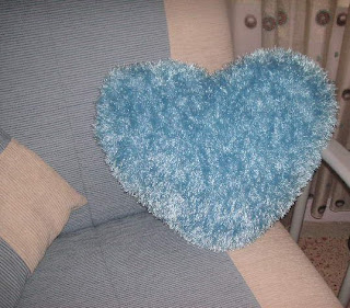 Knitting Pattern Heart Cushion : Knitting Galore: My Blue Heart Cushion