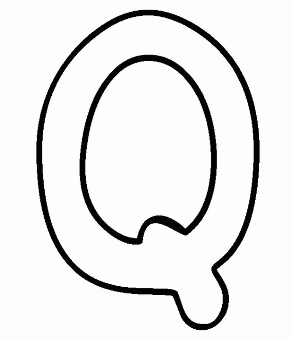 Capital Letter Q Coloring Page