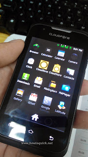 Cloudfone Excite 352g Menu