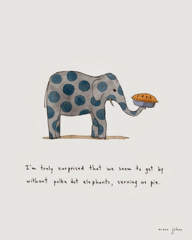 polka dot elephant illustration