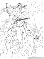 Barbie And 12 Dancing Princesses Coloring Pages