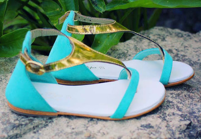 Oca-Loca Turquoise Summer Sandals for Girls| Chichi Mary
