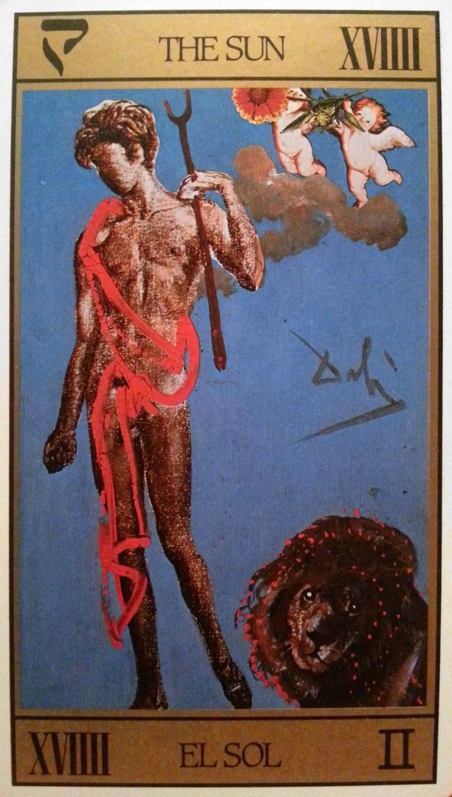 El Sol. Tarot de Dali
