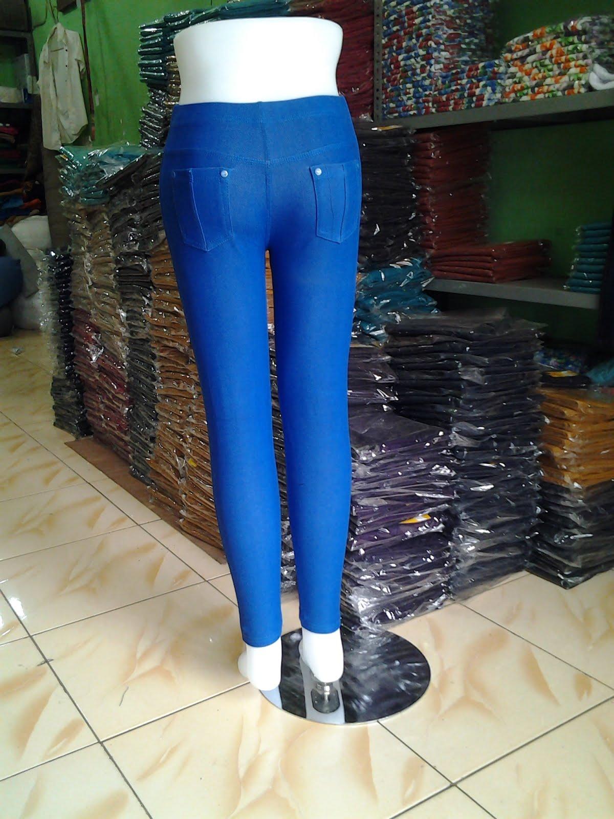 Celana Legging Panjang Biru Bca Standar Griya Grosir Fashion Jeans