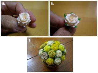Cara membuat bunga hias dari pipet atau sedotan beserta gambar