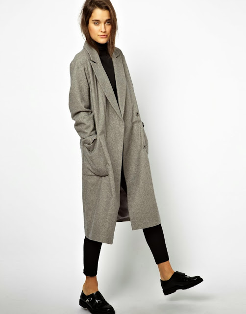 oversized grey coat