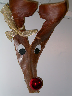 Palm Frond Rudolph Decoration