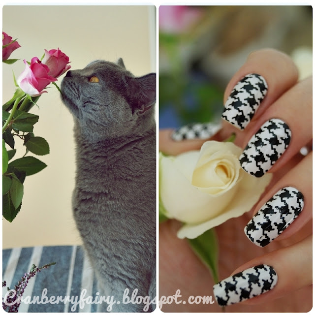 czarno białe paznokcie