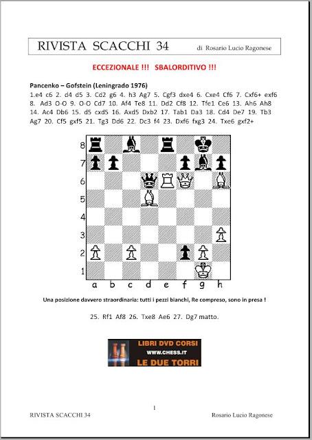Rivista Scacchi 34 (Chess Magazine) Rivista34