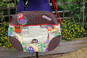 Holi-Handbag mit süßen Eulen