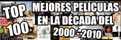 TOP 100 Mejores Películas Década 2000 - 2010