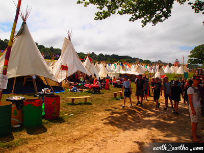 Glastonbury 2013 Tipi Hut Area